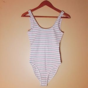 American Apparel vintage striped bodysuit size S